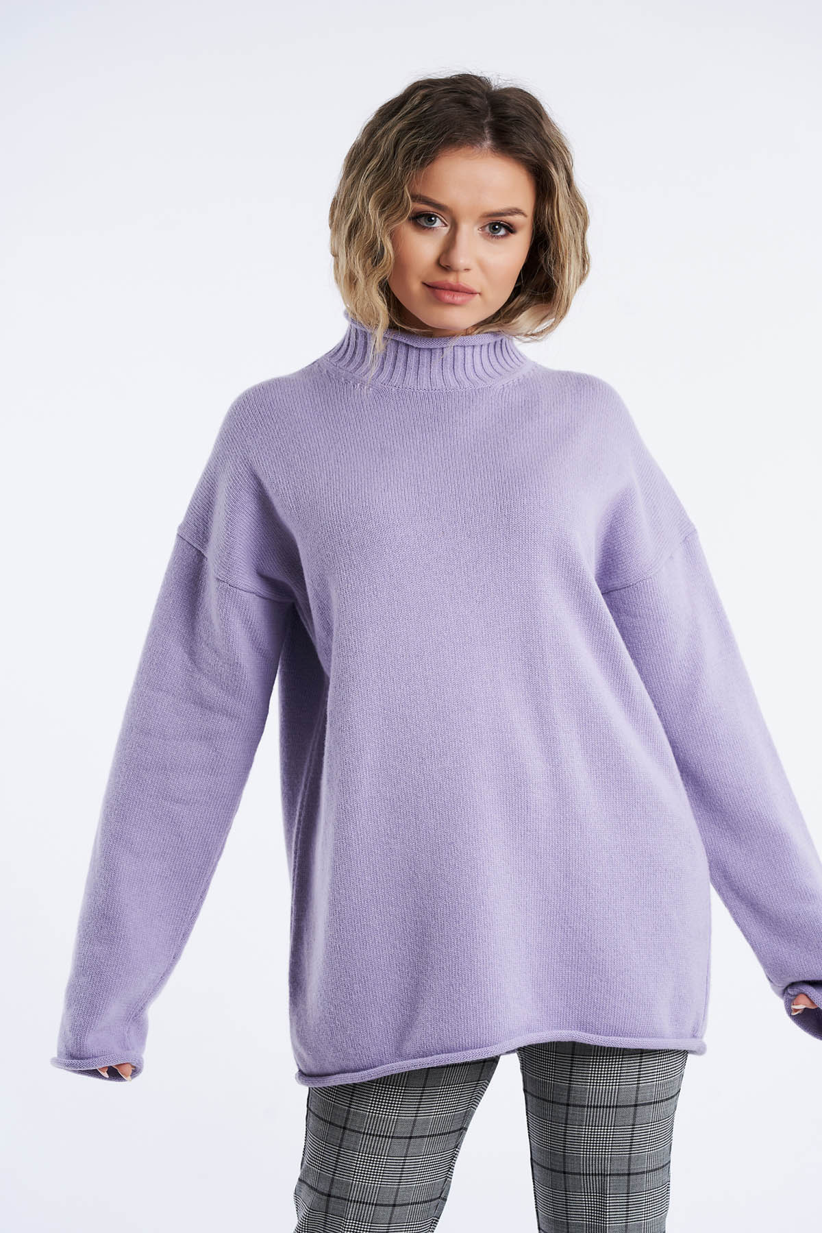 Pulover din tricot, Mov (6)