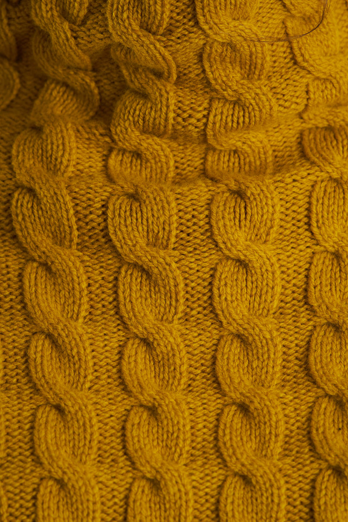 Pulover din tricot, Mustar (3)